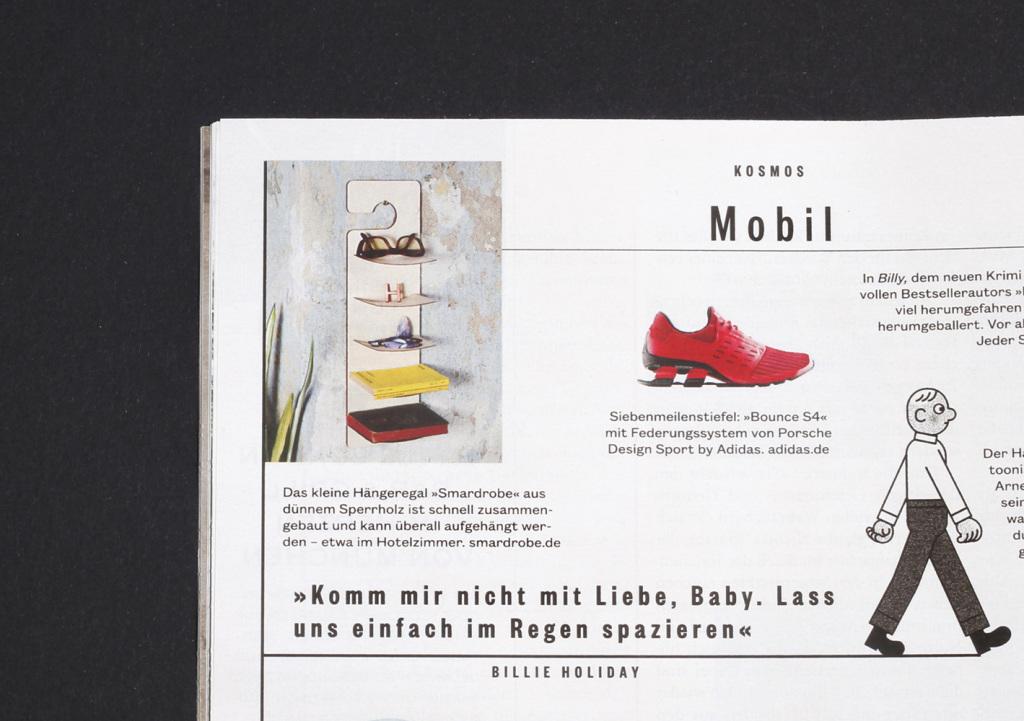 SZ Magazin 2015, SMARDROBE Designregal